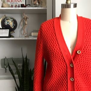 Vintage • Honeycomb Knit Cardigan